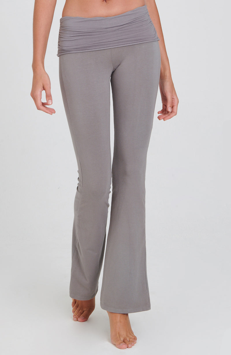 Ruched Bootcut Flare Practice Pant in Neutral