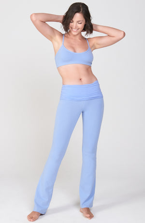 Ruched Waist Practice Pant in Blue Moon