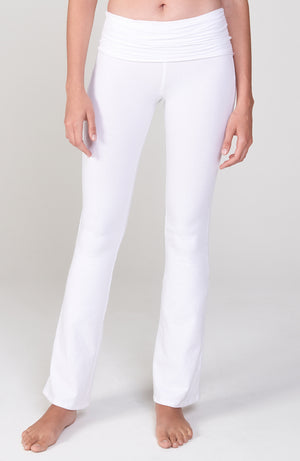 Ruched Waist Practice Pant in White