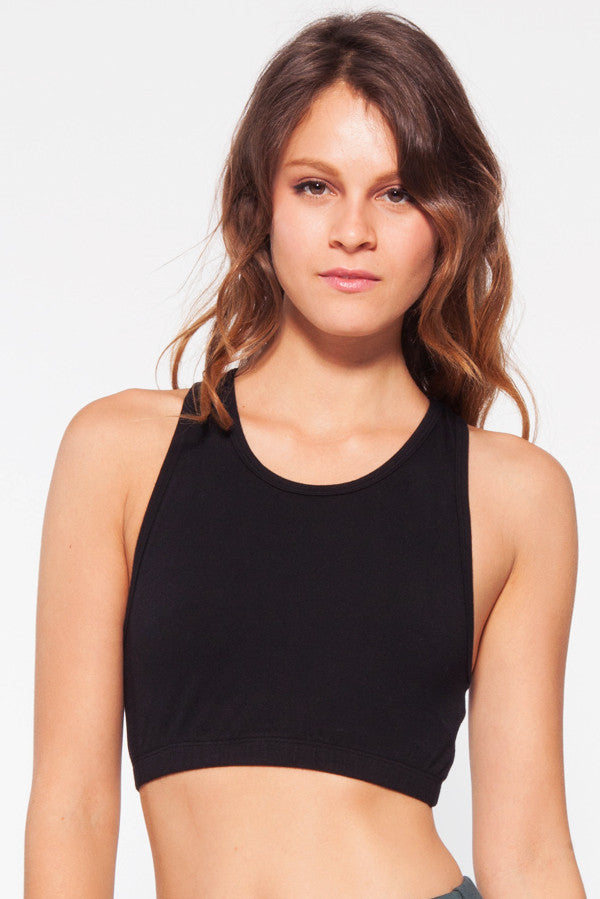 Shanti Crop Top in Black