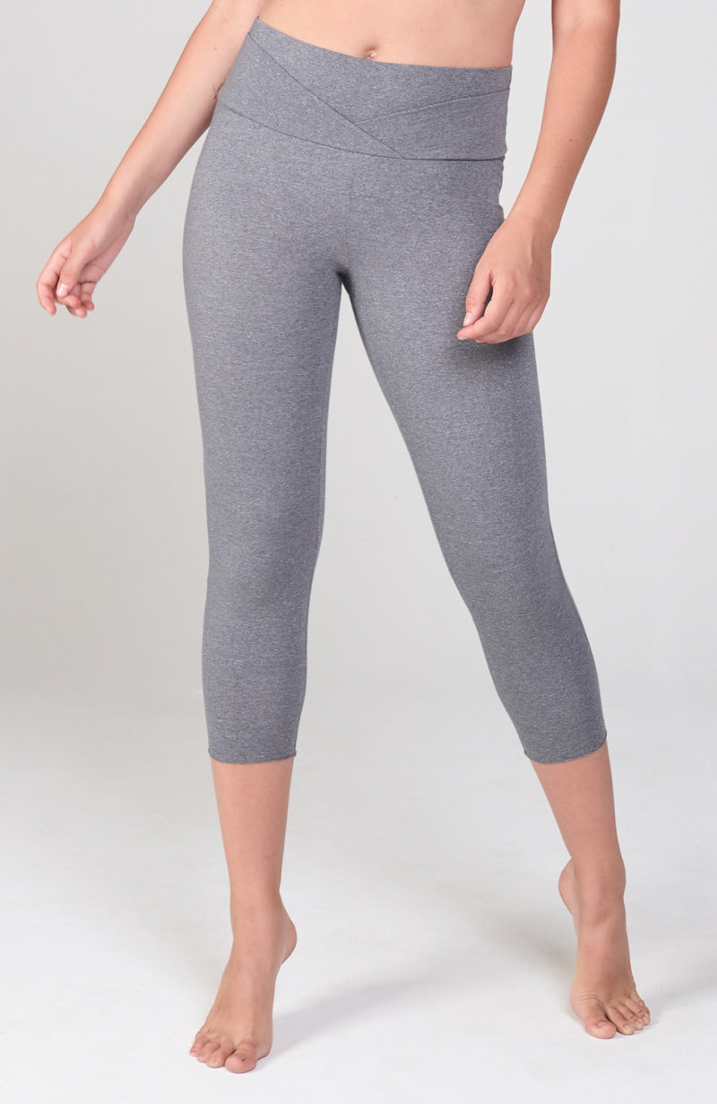 High Double Waist Pose Capri