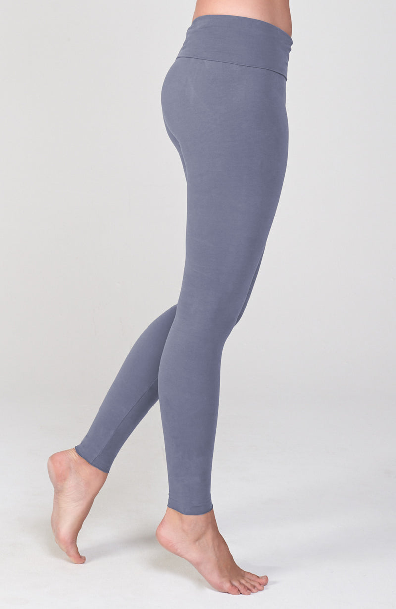 Sueded Hatha Legging in Denim Muse