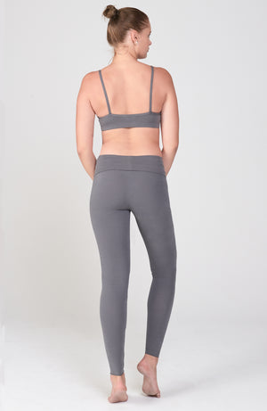 Sueded Hatha Legging in Sterling