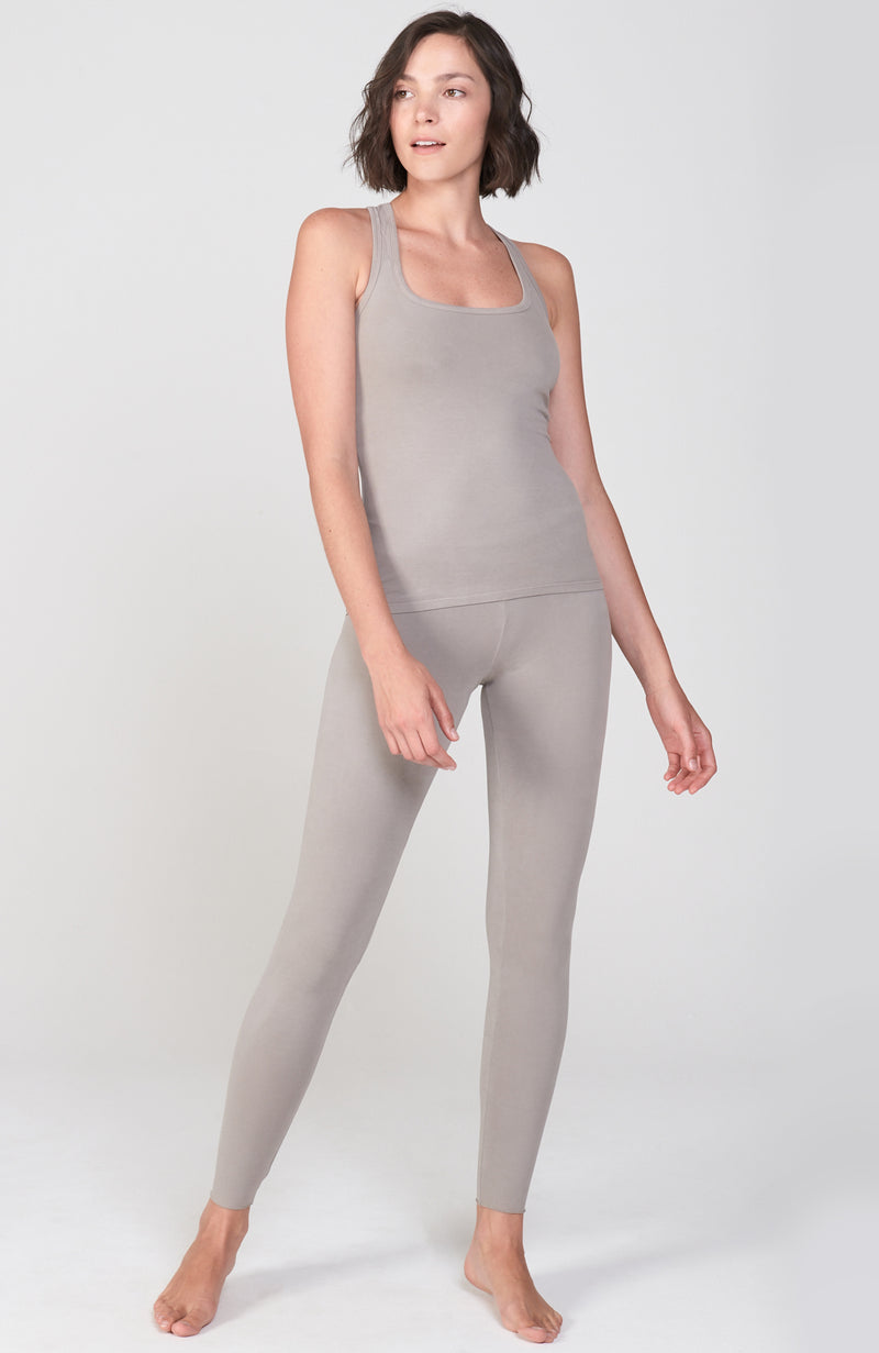 Sueded Hatha Legging in Neutral
