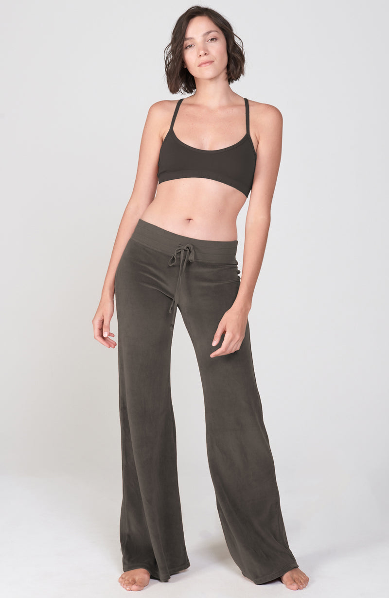Sutra Flare Velour Pant