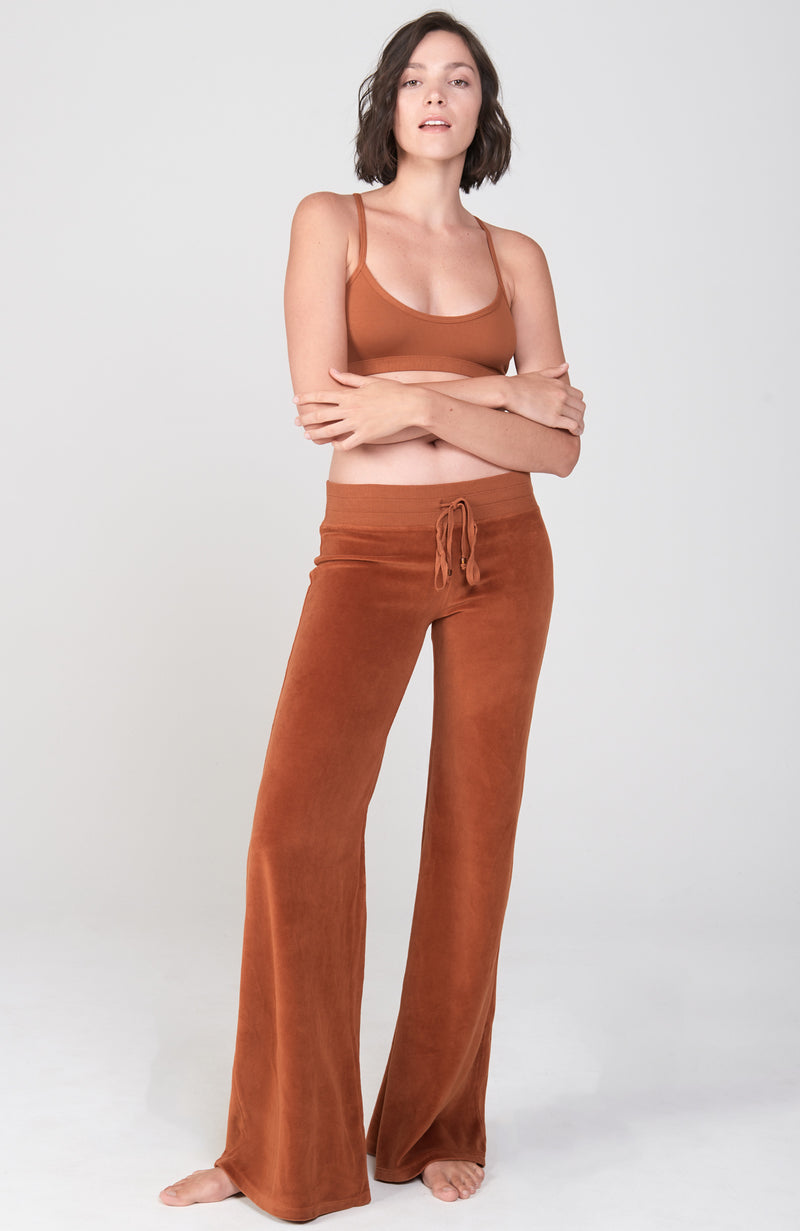 Velour Sutra Pant in Cognac