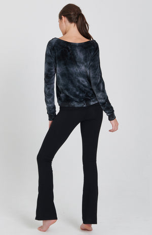 Velour Wanderer Sweatshirt in Storm