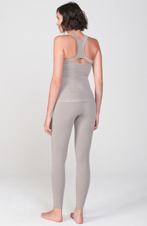 Sueded Half Moon Tank in Neutral