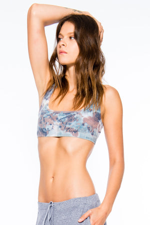 Sueded Half Moon Bra in Surreal Wash