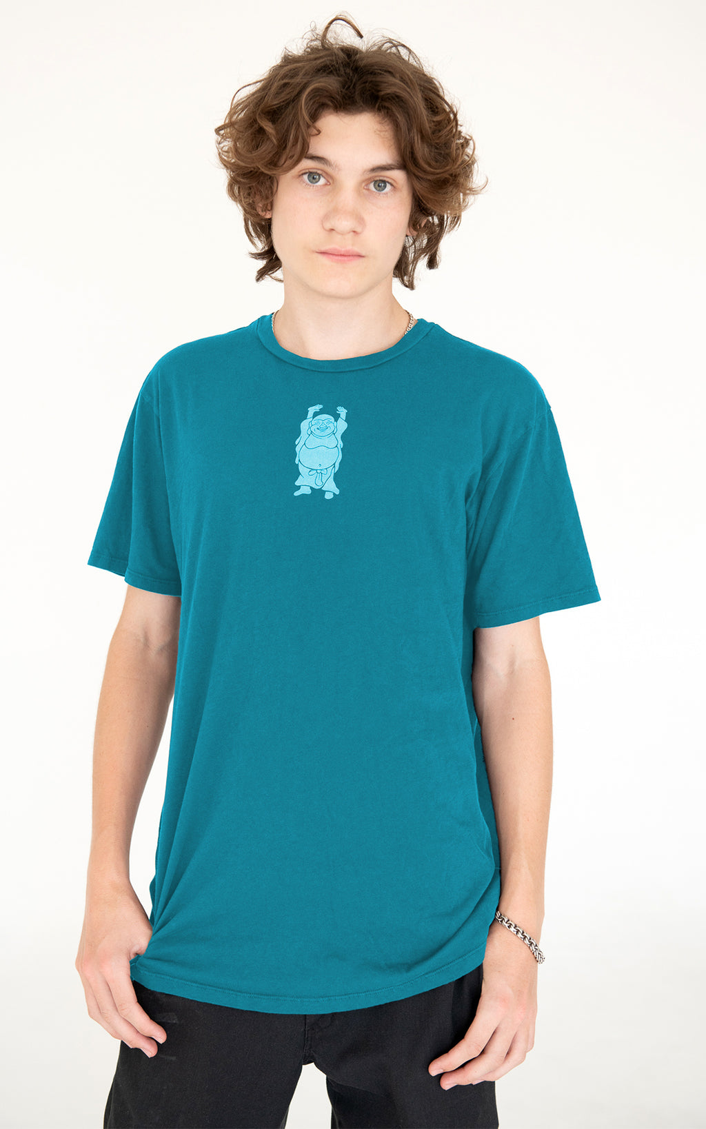 Men's Hotei Tee in Teal Blue