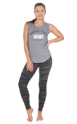 Mindful State Muscle Tee shirttail hem concrete gray