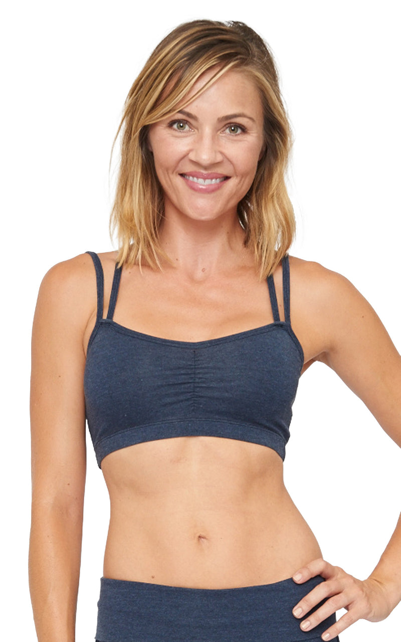 Yogini Bra in Navy Heather