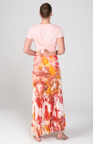 Current Skirt in Wild Hibiscus