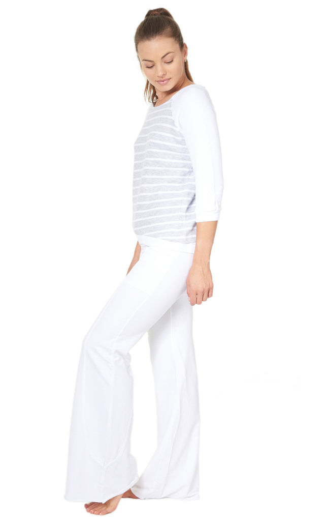 Wave Pant in White