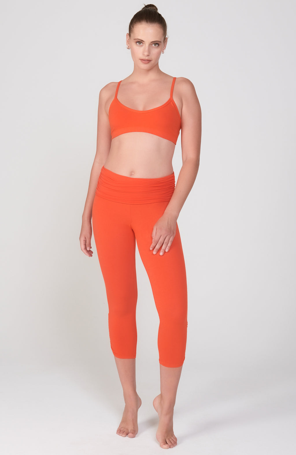 Ahimsa Capri in Orange Poppy