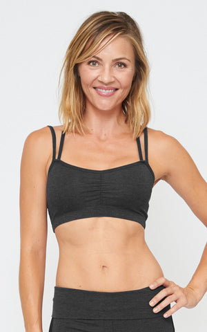 Yogini Bra in Charcoal