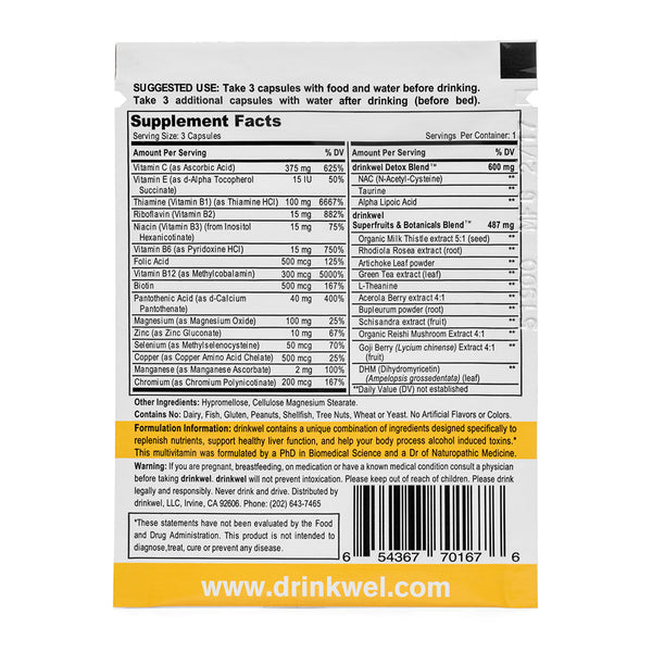 Drinkwel Free Sample Pack (2 To-Go Packets)