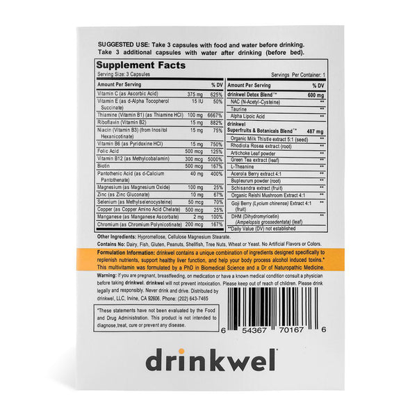 Drinkwel 20 To-Go Packets - Point of Sale Box