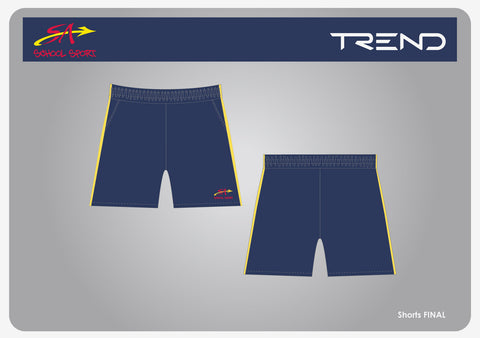 SA School Sport Navy Walkout Shorts