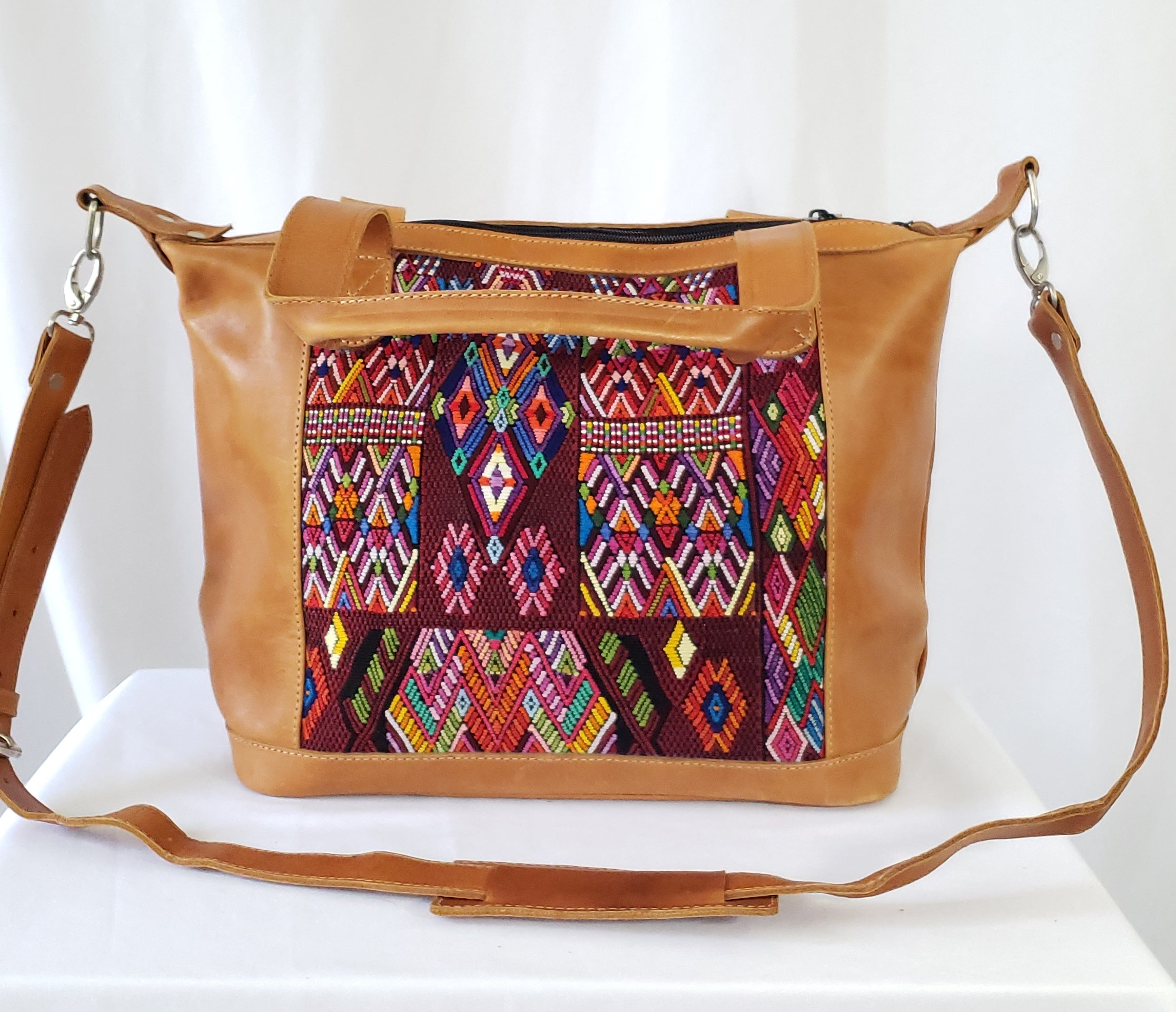 Bella: Small Mayan Tan Leather Day Bag