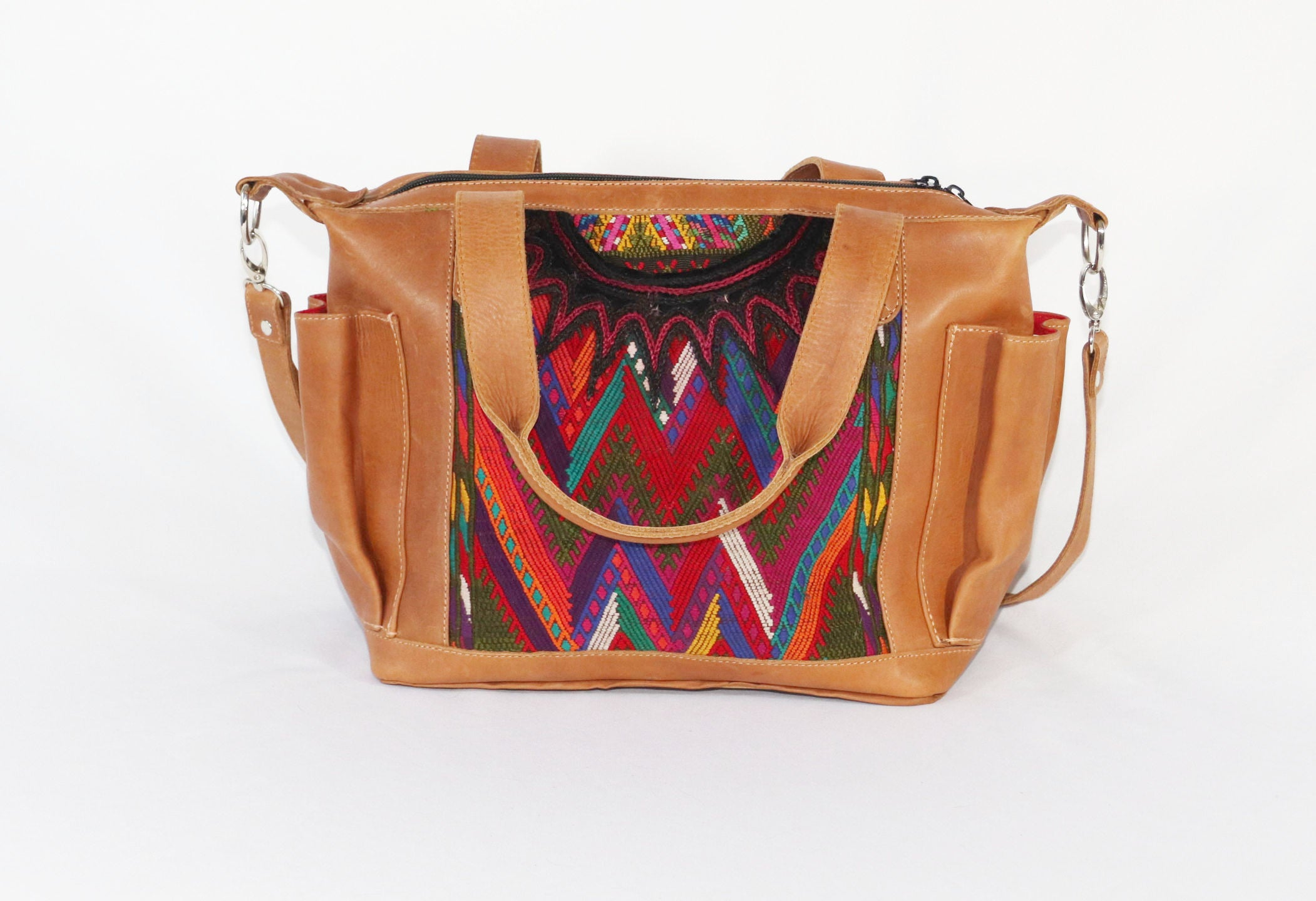 acc395ba8 Bella: Mayan Tan Leather Day Bag with Detachable Backpack Straps – LA Bela  Collection