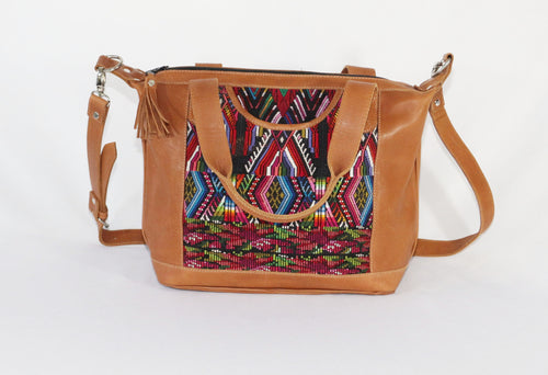 Bella: Small Mayan Leather Day Bag