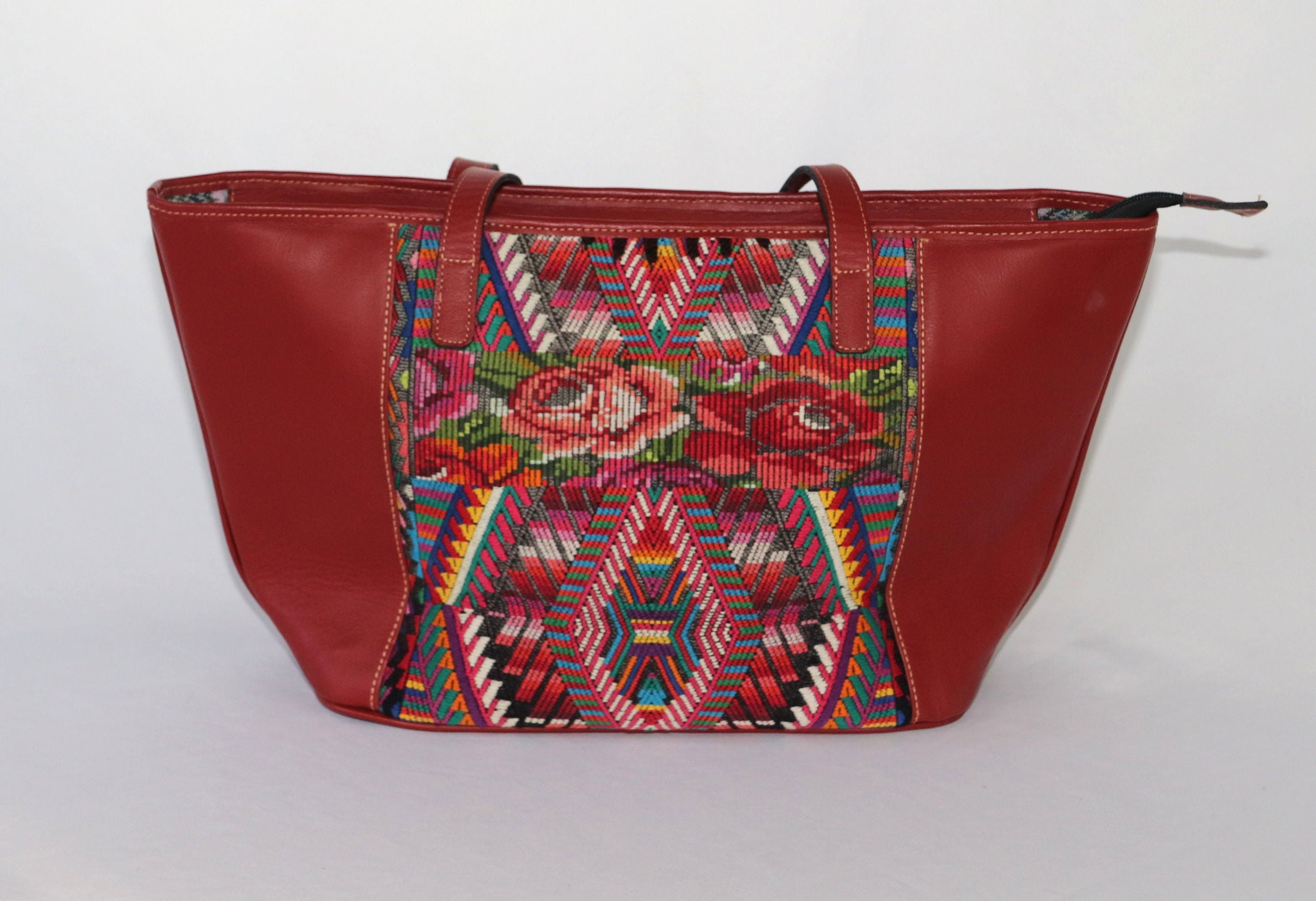 SALE!! Lola: Medium Mayan Red Leather Day Bag