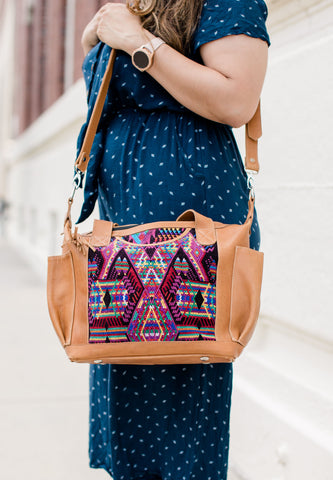SALE! Lola: Medium Mayan Red Leather Day Bag
