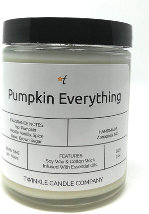 Pumpkin Everything Scented 9oz Glass Candle