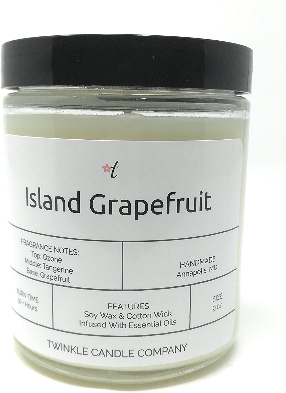 Island Grapefruit Scented 9oz Soy Candle