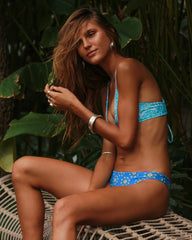 Lanka Reversible btms - Antique / Sahara - cheeky cut brazilian surf bikinis Cenote Swimwear that stays on in the surf