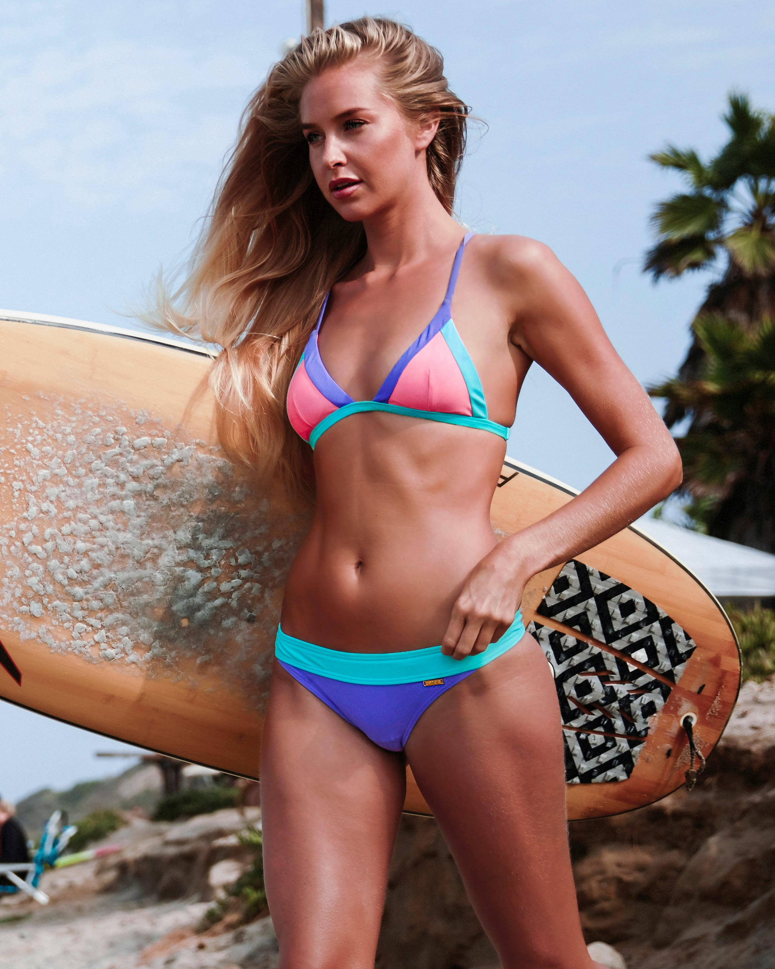 Nexpa Top - Born in the 80's - cheeky cut brazilian surf bikinis Cenote Swimwear that stays on in the surf