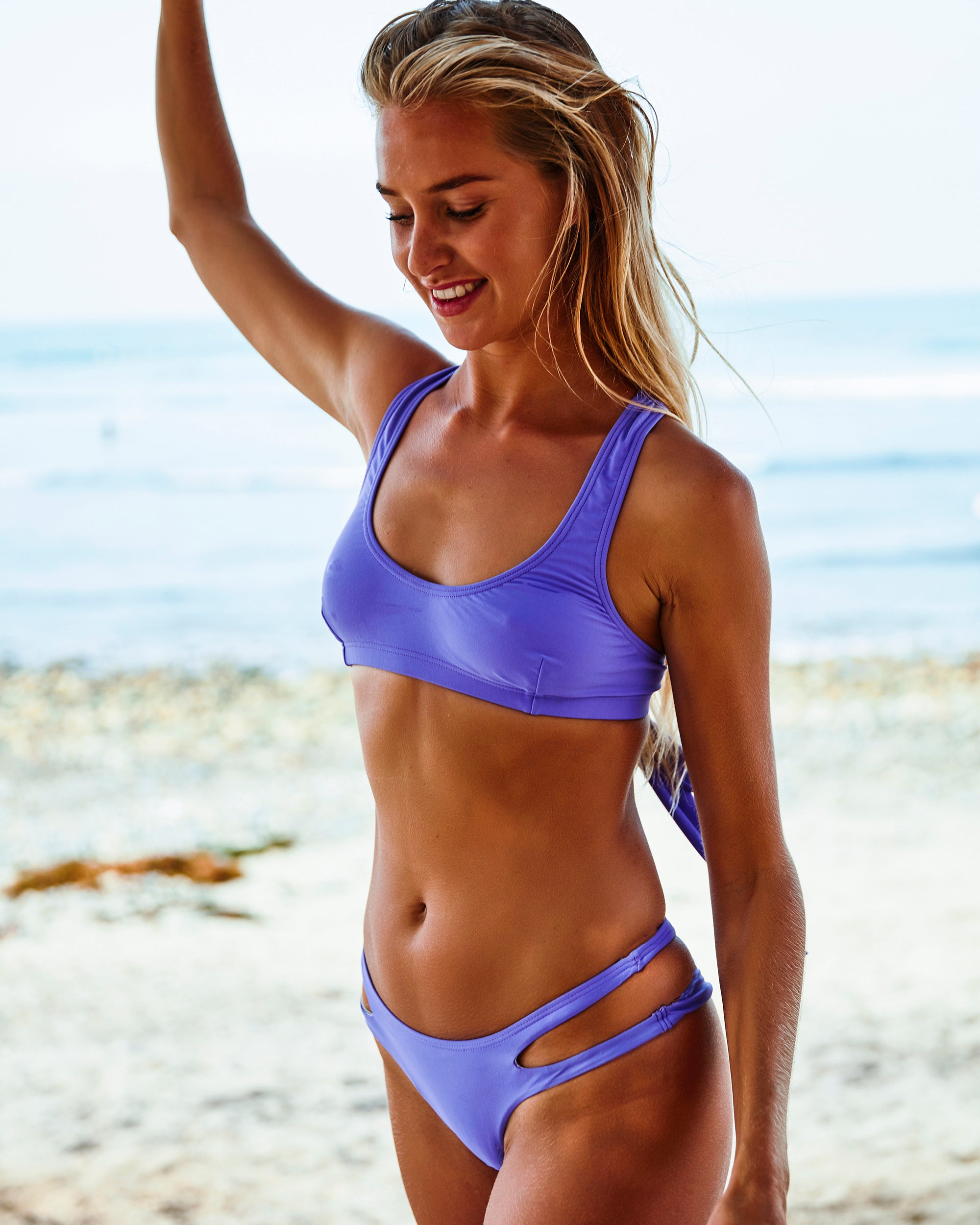 Prevelly bottoms - Amnesia - cheeky cut brazilian surf bikinis Cenote Swimwear that stays on in the surf