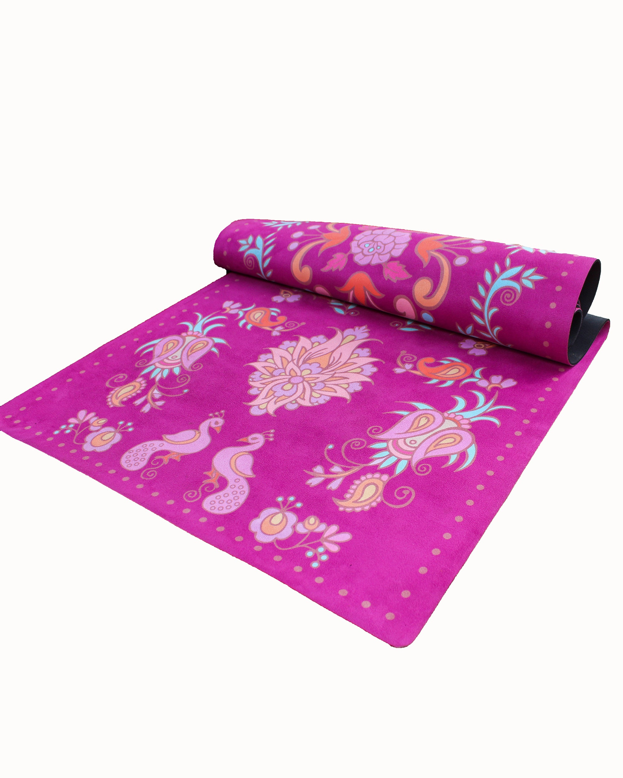 Suede Yoga Mat - Paisley Maroon
