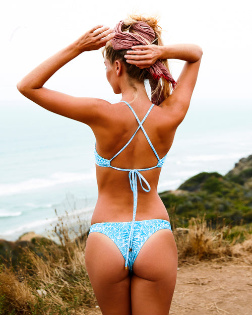 Ipanema Runch btms - Antique - cheeky cut brazilian surf bikinis Cenote Swimwear that stays on in the surf