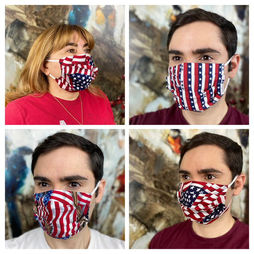 American Flag Face Mask - Washable Reusable Unisex