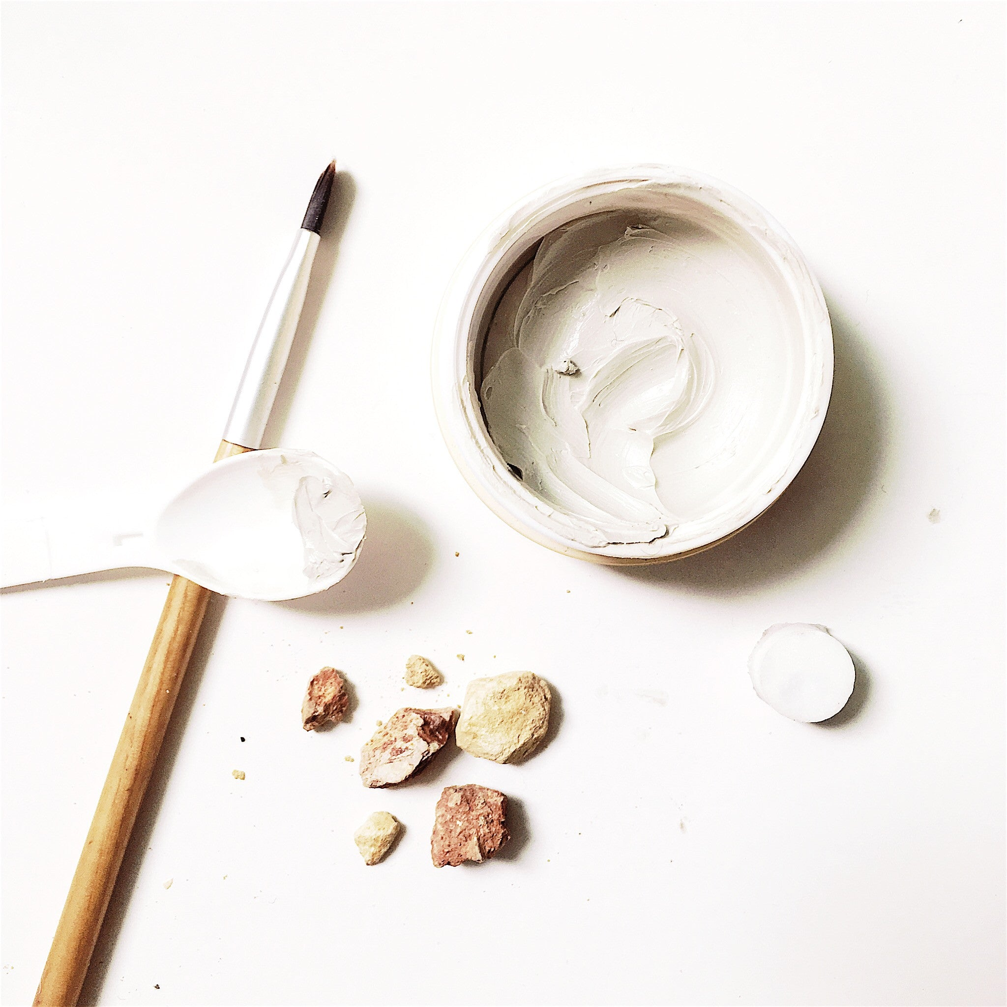 Petite Face mask - Texture exposed. Its not just Clay, its oil infused clay for skin nutrients