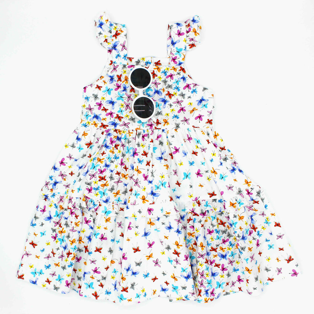 NEW Tiered Butterfly Twirl Dress