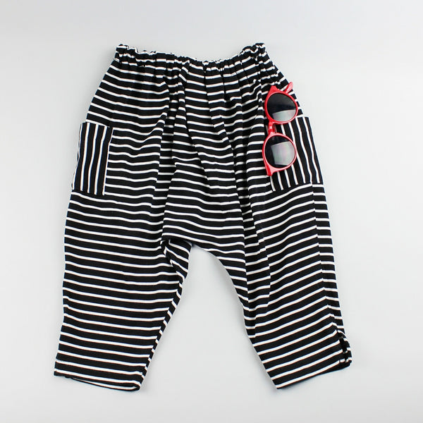 Harem Pants in Striped Bamboo and Organic Cotton