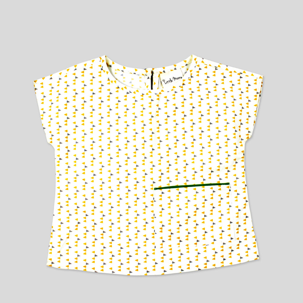 Girls' Ao Baba Top in Honeycomb Print