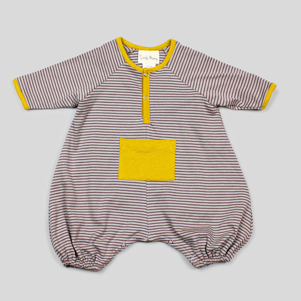 NEW: Gender Neutral Organic Brown Striped Jumper