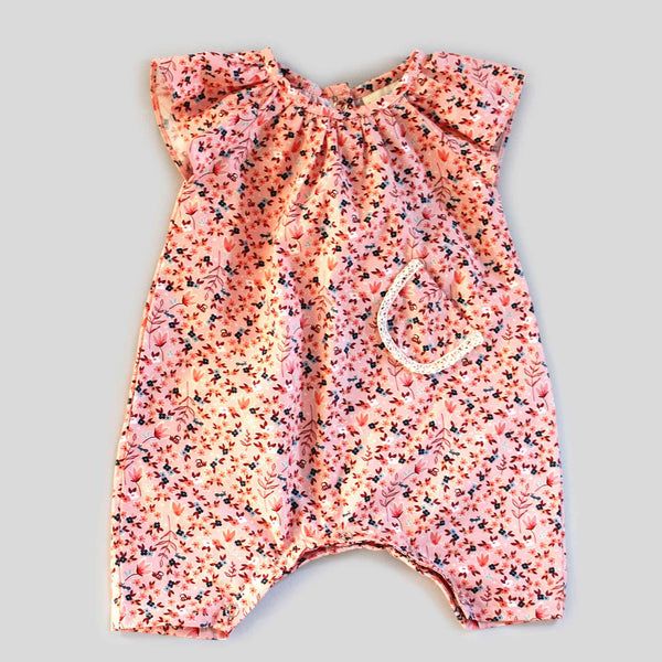 Back in Stock: Pink Floral Jumper with Ruffle Sleeves