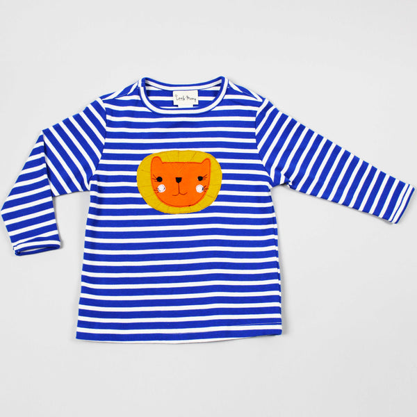 NEW: GOTS Certified Organic Long Sleeve Lion Appliqué Top