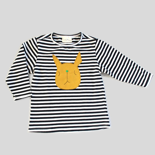 New: Bunny Black and White Striped Shirt