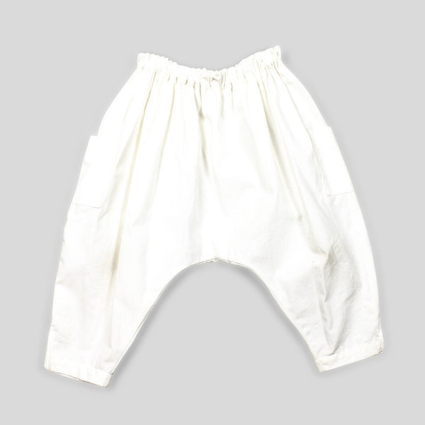 Gender Neutral Harem Pants in Organic Poplin