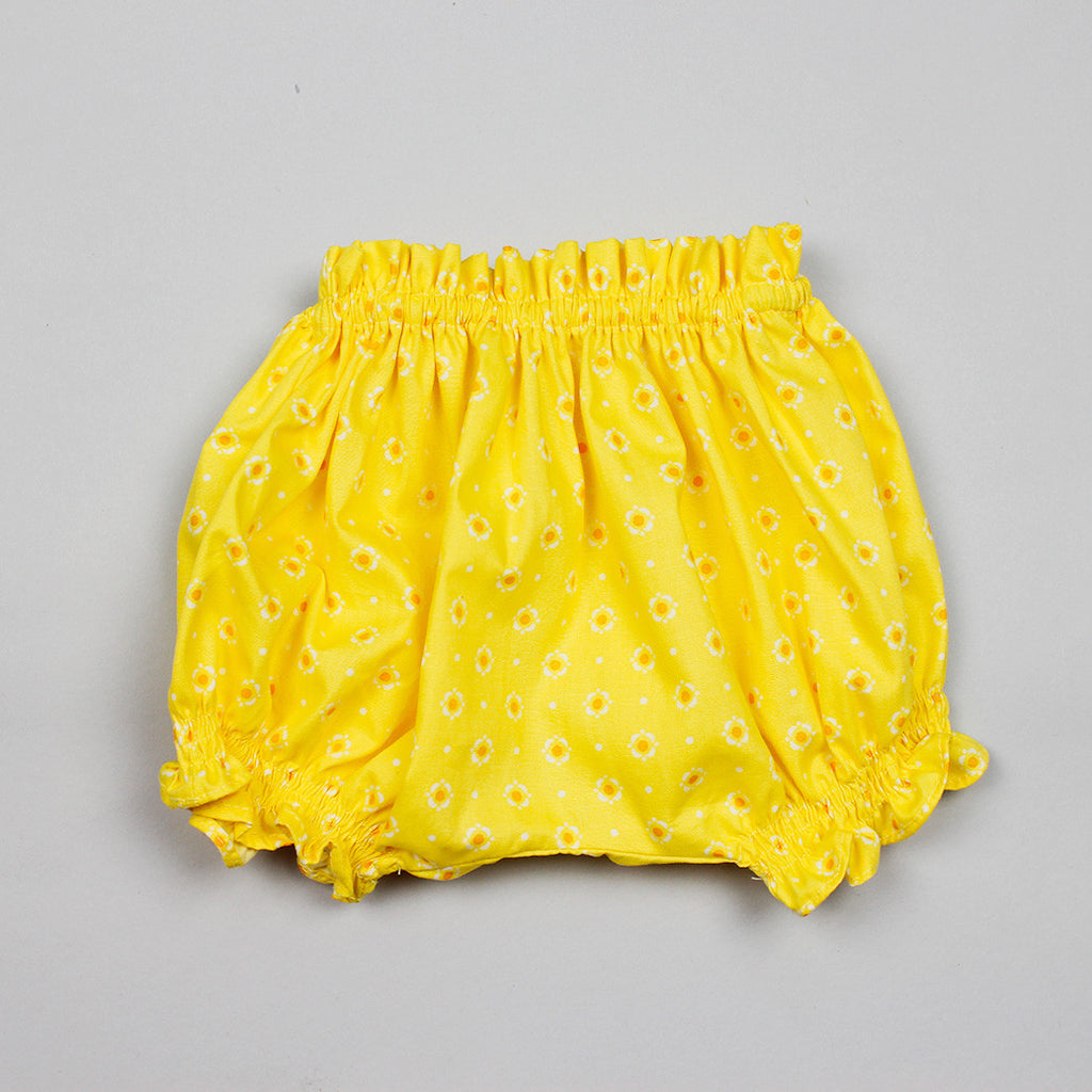 Cotton Bloomers In Yellow Floral Print