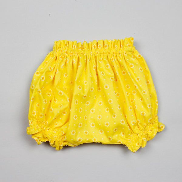 NEW: Cotton Bloomer In Yellow Floral Print