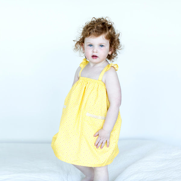 NEW:  Yellow Floral Print Sundress