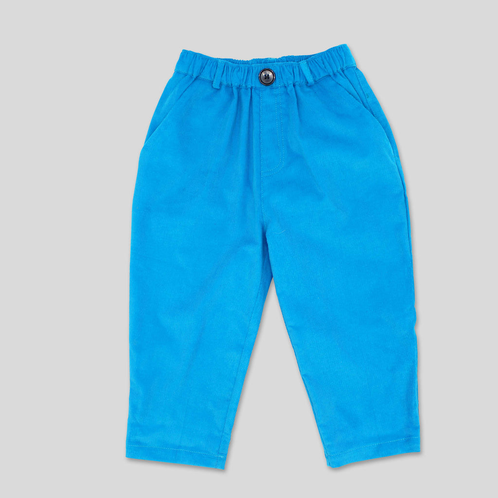 New: Cord Trousers in Blue