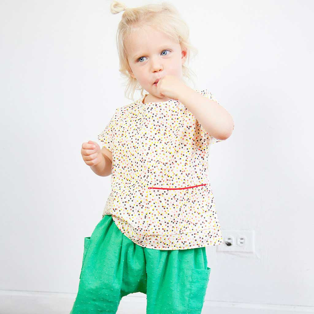 Girls' Ao Baba Top in Confetti Print